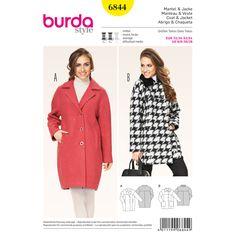 Jacket / Coat, Burda 6844 - Burda-Sewing Patterns – Coat, Jacket and Vestfavorable buying at our shop
