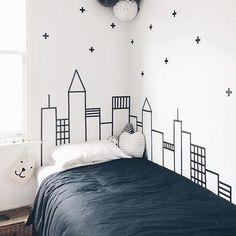 Ideas-And-Remodel/ diy washi tape wall art, washi tape dorm, washi tape College Bedroom Decor, Diy Wall Decor For Bedroom, Bedroom Art, Bedroom Themes, Kids Bedroom, Baby Bedroom, Decor Room, Design Bedroom, Art Decor