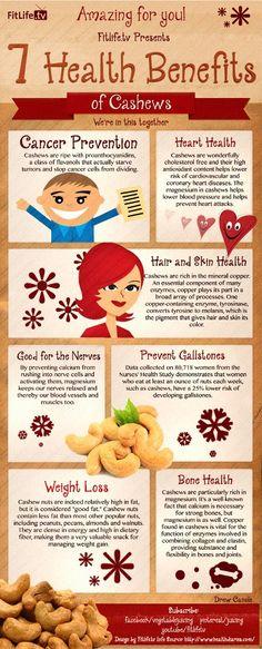 7 Health Benefits of Cashews!