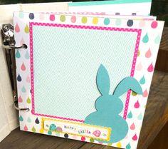 Easter Mini Album Scrapbook On Sale Premade by ArtsyAlbums on Etsy