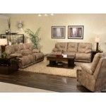 Catnapper - Voyager 2 Piece Power Lay Flat Reclining Sofa Set in Brandy - 64381-S+L
