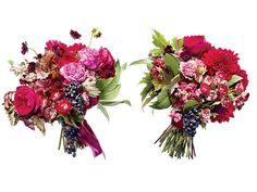 Save vs. Splurge Wedding Bouquets, Vintage Red Flowers