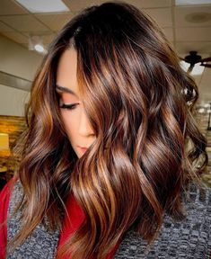Auburn Balayage, Brown Hair Balayage, Balayage Brunette, Brunette Hair, Dark Balayage, Copper Balayage, Auburn Highlights, Color Highlights, Blonde Hair
