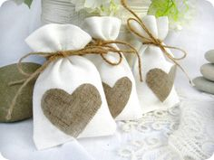 white wedding favor bags