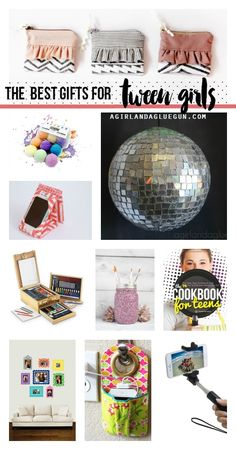 the best gifts for tween girls--things to buy and make for those hard to shop for girls for Christmas!!!