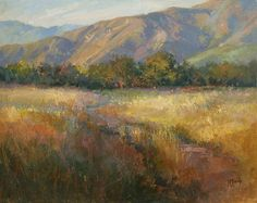 Richard McKinley Ojai Gold - Oil | pastels, ah pastels