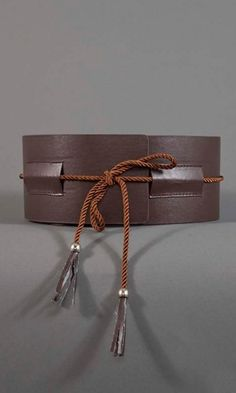 Wide Obi Belt - Brown $19