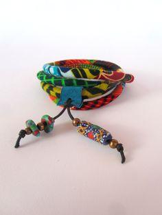Wrap+bracelet++gypsy+bracelet++leather+charm+with+by+nad205