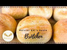 Bäcker Meister Edi hat mir sein Rezept verraten- die weltbesten Brötchen - YouTube German Bread, Bread Recipes, Hamburger, Food And Drink, Baking, Muffins, Youtube, Pasta, Recipes