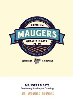 Maugers Meats - Brand Book by Emir Ayouni, via Behance