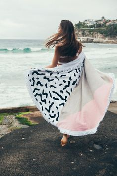 20 Trendy Beach Towels that will have You Sitting Pretty this Summer Squiggle round towel: www. Summer Essentials, Bikini Beach, Holiday Outfits, Beach Towel, Creative, Beachwear, Cute Outfits, Photoshoot, Pretty