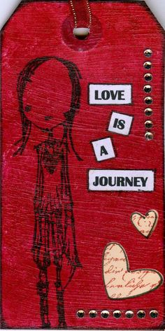 a tag by Kay Wallace (made for a swap in 2013)