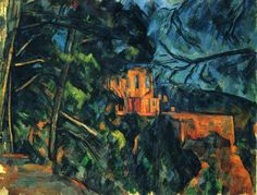 """Paul Cézanne, Aix-en-Provence, France French artist and Post-Impressionist painter. """"Château Noir"""" Oil on canvas. National Gallery of Art. National Gallery Of Art, Art Gallery, List Of Paintings, House Paintings, French Paintings, Tree Paintings, Paul Cezanne Paintings, Cezanne Art, Poster Art"""