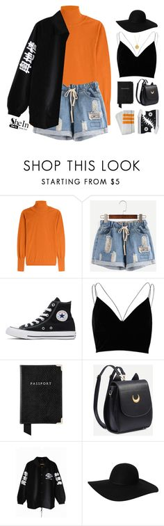 """Ripped blue denim shorts!"" by askhaerunisa ❤ liked on Polyvore featuring Roksanda, Converse, River Island, Aspinal of London, Monki, Rachel Jackson and Sheinside"