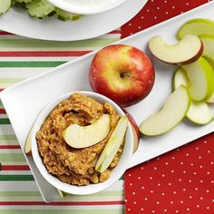 Crunchy Peanut Butter Apple Dip Recipe -My mom got this peanut butter dip recipe from a neighbor years ago. She always made it for us kids in the fall when apples were in season. Now I make it for my children. Fall Appetizers, Healthy Appetizers, Appetizer Dips, Appetizer Recipes, Apple Salad Recipes, Dip Recipes, Snack Recipes, Superfood Recipes, Snacks Ideas