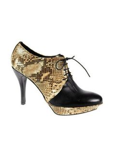 Ankle Boots. heeled oxfords. good idea :)  looking really sexy with snakeprint too.