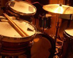 Vintage drum setup