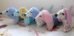 19 handmade stuffed dog dachshund doxie moxie by LiaAndLucy
