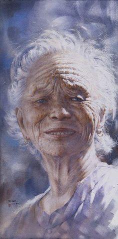 Chen-Wen Cheng (b1964, Ping Dong County, Taiwan) | watercolor