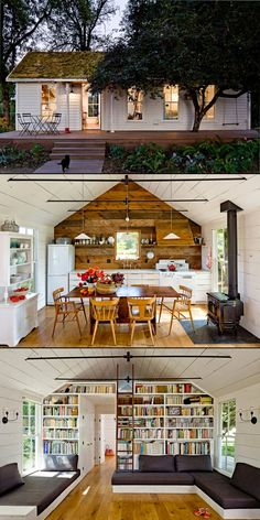 The leading tiny house marketplace. Search thousands of tiny houses for sale and rent and connect with tiny house professionals. Tiny House Cabin, Tiny House Living, Small House Plans, House By The Lake, Little Green House, Little Houses, Tiny Houses, Cat Houses, Tiny House Movement