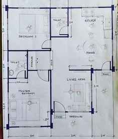 1200sq Ft House Plans, 30x50 House Plans, Little House Plans, Four Bedroom House Plans, 2bhk House Plan, Model House Plan, House Layout Plans, Bungalow House Plans, Family House Plans