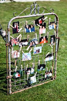 This would be cute with messages for the bride and groom. Reminds me of my old gate from Brunswick!!