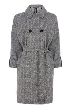Coats & Jackets | Grey HERRINGBONE JACQUARD DUSTER JACKET | Warehouse
