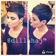 Short Pixie Hairstyles - hair styles for short hair Short Pixie Haircuts, Cute Hairstyles For Short Hair, Short Hair Cuts, Short Hair Styles, Short Bangs, Sassy Hair, Haircut And Color, Great Hair, Hair Today