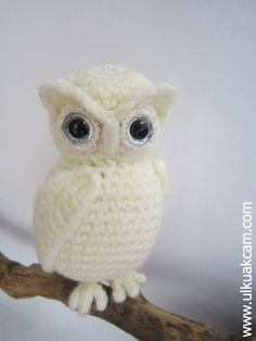 Amigurumi Snowy Owl Pattern by Denizmum on Etsy