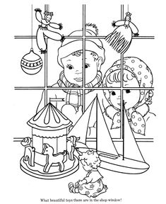 Free Printable Christmas Toys Coloring Pages!