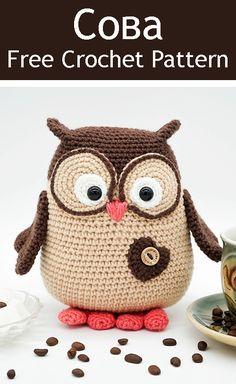 New baby diy accessories Ideas Owl Crochet Pattern Free, Crochet Birds, Crochet Patterns Amigurumi, Cute Crochet, Crochet Animals, Crochet Crafts, Crochet Projects, Owl Patterns, Handmade Toys