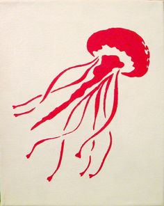 Use Coupon Code 10PERCENT to get 10% off of your order! Jellyfish Silhouette - 8x10 via Etsy