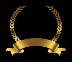 Gold laurel wreath with ribbon Premium V. Royal Background, Studio Background Images, Logo Background, Design Elements, Design Art, Logo Design, Graphic Design, Crown Drawing, Certificate Design Template