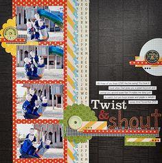 Twist and Shout layout - Scrapbook.com