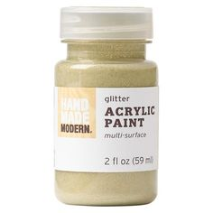 Glitter Acrylic Paint - Hand Made Modern® : Target Glitter Acrylics, Glitter Paint, Cute Notebooks For School, Paint Supplies, How To Make Paint, Paint Set, Neon Colors, Paint Brushes, Glow
