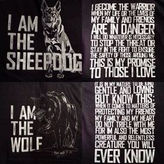 You embody the qualities of both the sheepdog and the wolf. I'm the wolf in survival mode focused only on protecting my heart. But you're helping me to get back in touch with my gentle and loving side. Wolf Quotes, Wisdom Quotes, Me Quotes, Qoutes, Motivational Quotes, Inspirational Quotes, Strong Quotes, Animal Quotes, Warrior Quotes