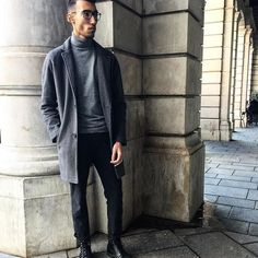 winter // menswear, mens style, fashion, sweater, turtleneck, topcoat, overcoat, street style, winter, holiday, #sponsored