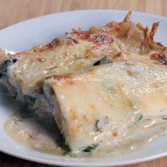 Lasagne rapide sauce aux champignons et épinards pour quand t'as faim et t'as rien