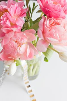 #peonies and #tulips make a lovely arrangement. photography by Trix & Trumpet event styling and consulting.