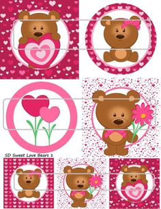 DIY Printable Sweet Love Bears 1 Shrinky Dinks by MaddieZee, $1.25