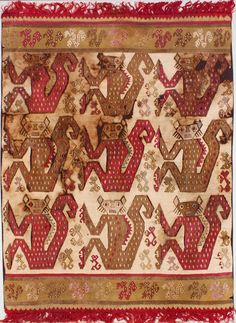 Textile used for a Tunic or Mantle, Peru; Chimú culture. Circa 1100–1450 CE