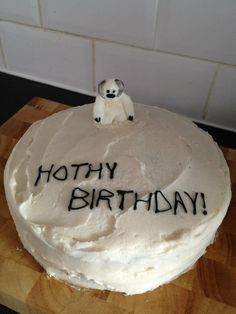 Star Wars cake #Hoth #Wampa... So easy & The Boy would love it!