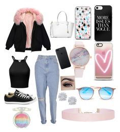 """""""s'cute"""" by madystultz on Polyvore featuring Converse, Michael Kors, Casetify, Ray-Ban, Humble Chic and Effy Jewelry"""