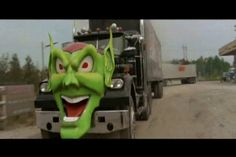 """1977 White Western Star 4864 """"The Green Goblin"""" from the 1986 Sci-fi / horror movie """"Maximum Overdrive """" Big Rig Trucks, Semi Trucks, Cool Trucks, Cool Cars, Maximum Overdrive, Stephen King Movies, Pt Cruiser, Green Goblin, Horror Movies"""