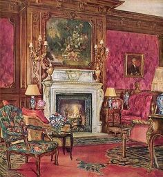 W.B.E Rankin - Mrs. Vincent Astor's Drawing Room at Ferncliff, 1931