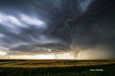 Storm Season, Landscape Photography, Weather Art, Storm Print, Thunderstorm Print, Clouds, Rain, Tornado, Kansas, Nebraska, Gold, Platinum