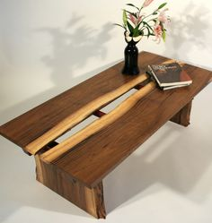 A beautiful live edge coffee table