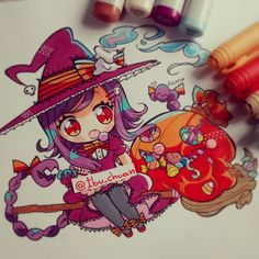 """Painted with pen bic marker, copic sketch and pen pilot white""  Listooo!!!  Se…"