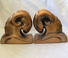Art Deco Ram's Head Bronze Bookends by ArchetypeCollection on Etsy