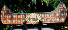 Hand carved Canoe with Moose by Cindy LaMay.